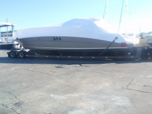 Road transporting a used yacht