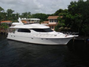 Symbol motor yacht at dock in Fort Lauderdale