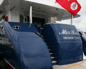 Yacht registered in Cayman Islands