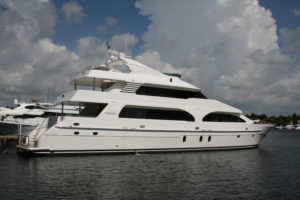 tri deck motor yacht for sale