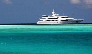 Private yacht enjoying the Bahamas