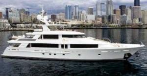Westport tri deck yacht for sale