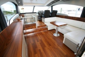 Used Fairline Gran Turismo 62 express cruiser salon